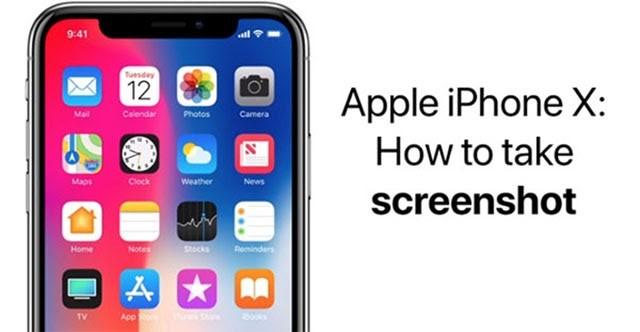 chụp ảnh màn hình iPhone X