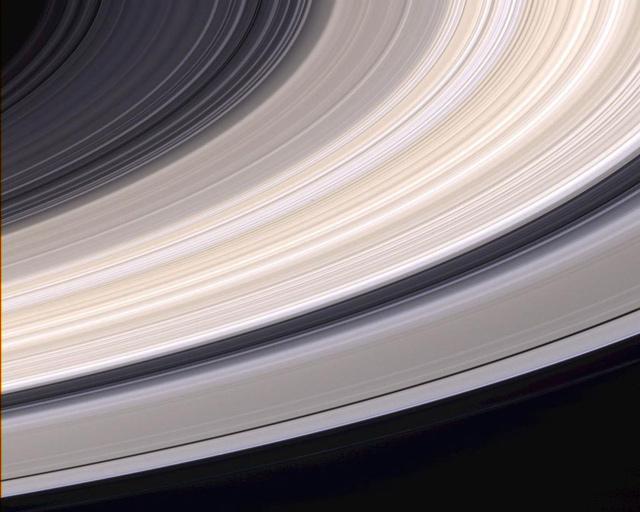 các vành đai sao Thổ được tàu Cassini chụp lại