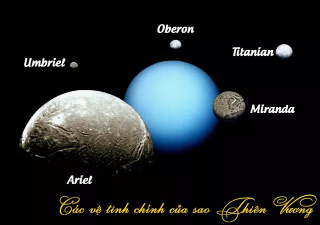 các vệ tinh chính của sao Thiên Vương