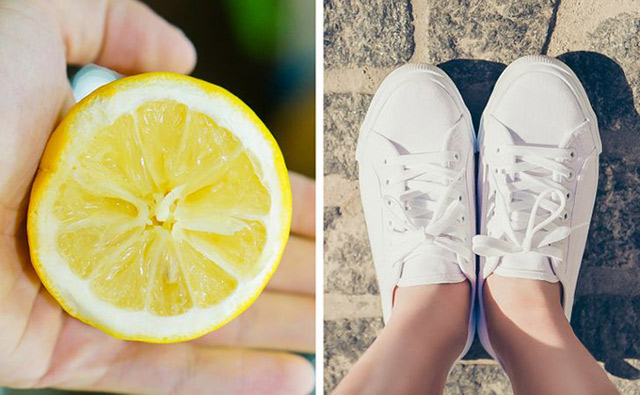 Tẩy trắng giày bằng baking soda