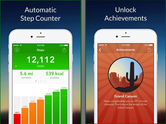 Phần mềm Stepz đếm bước chân