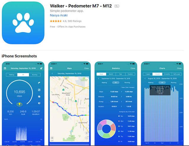 Phần mềm đếm bước chân Walker