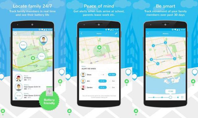 Phần mềm Family GPS tracker Control