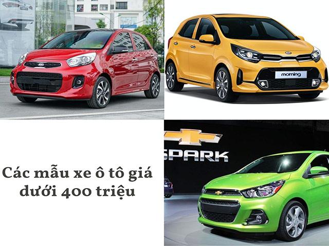 Các xe ô tô giá dưới 400 triệu