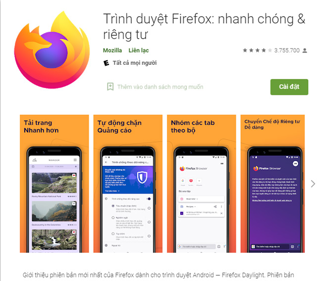 Tải FireFox cho Android