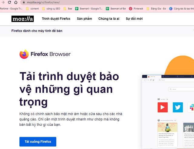 Tải FireFox về cho PC