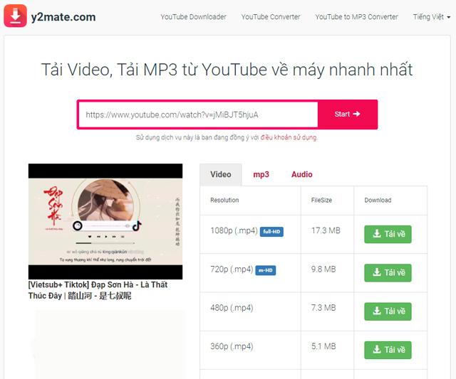 Cách cắt nhạc Youtube