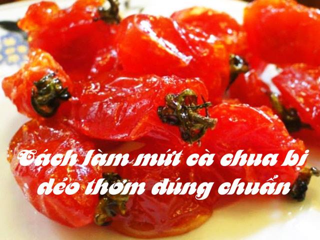 Cách làm mứt cà chua bi