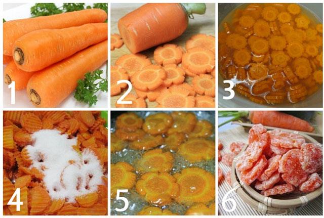 cách làm mứt cà rốt giòn