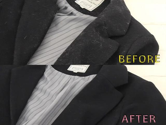 Cách làm sạch bụi vải bám trên quần áo đen
