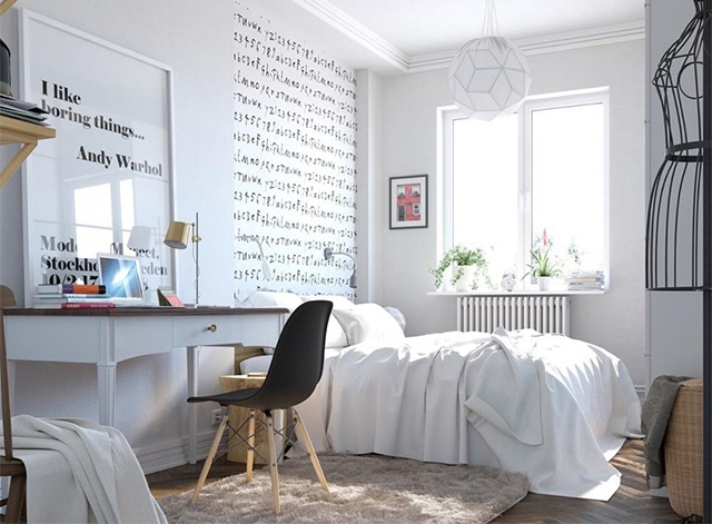 phòng ngủ 10m2 xinh đẹp