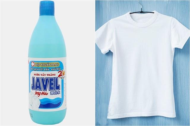 Thuốc tẩy Javel chính là cứu tinh cho mọi trang phục trắng