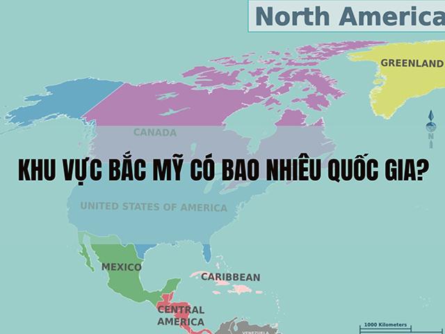 Bản đồ khu vực Bắc Mỹ