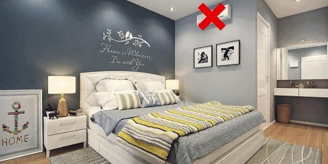vị trí lắp đặt máy điều hòa trong phòng ngủ