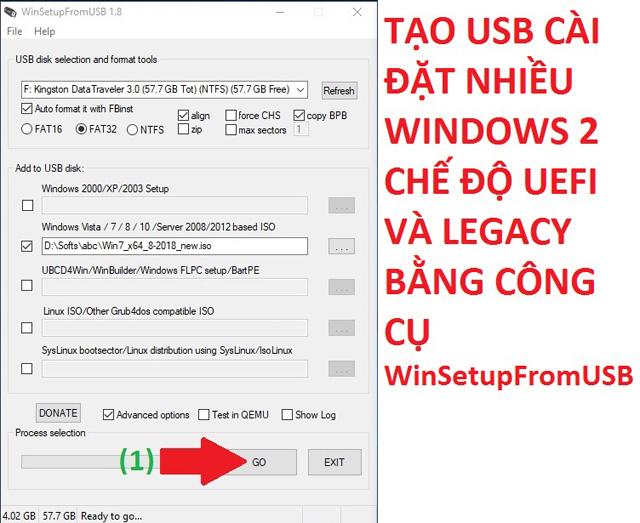 tạo usb boot windows 10