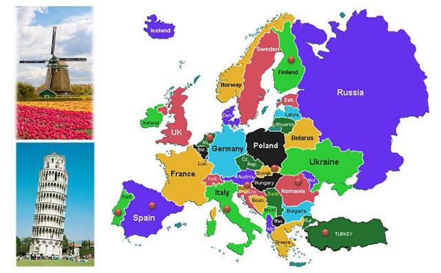 danh sách các nước trên thế giới