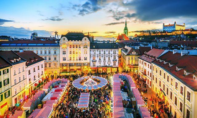 Thủ đô Bratislava của Slovakia