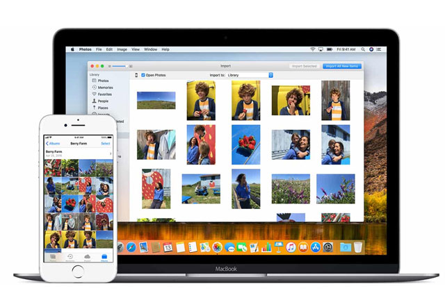 Cách chuyển hình ảnh từ iPhone đến MacBook