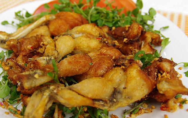 các món ăn từ ếch