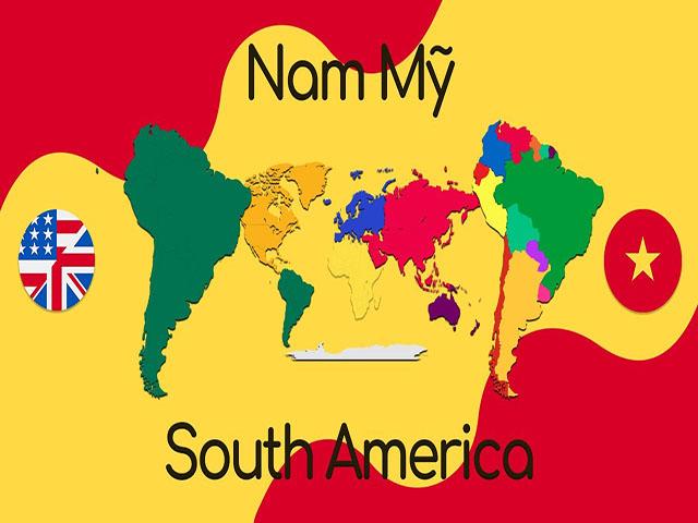 Khu vực Nam Mỹ trải dài với 13 quốc gia và vùng lãnh thổ
