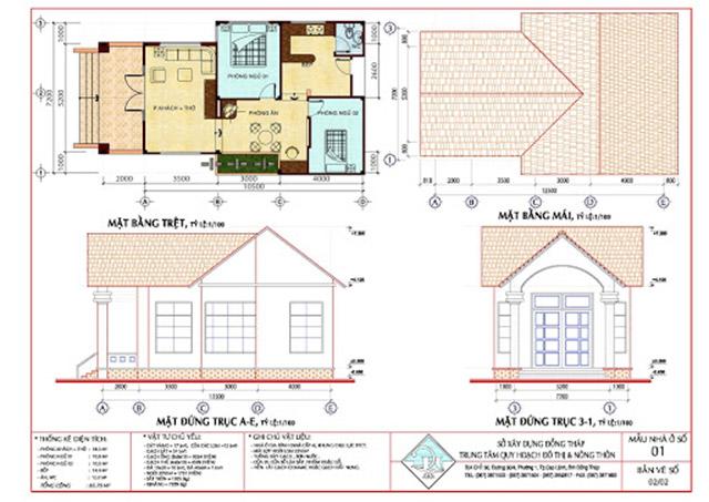 Bản vẽ thiết kế theo tiêu chuẩn của mật độ xây dựng