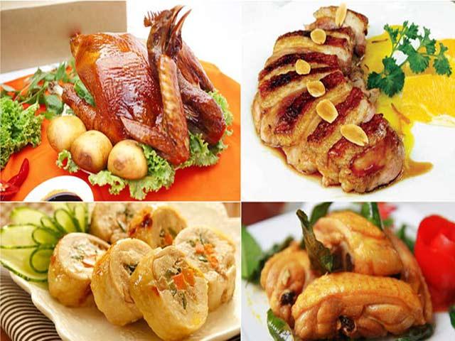 Các món ăn từ thịt gà
