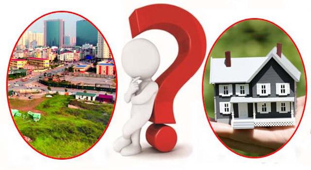 nên mua chung cư hay mua đất xây nhà