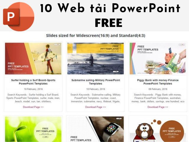 Slide trên ALLPPT và các web Free khác có chất lượng cao