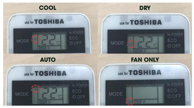 các chế độ cơ bản của điều hòa Tosiba