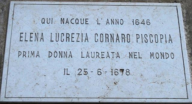 nữ tiến sĩ Elena Cornaro Piscopia
