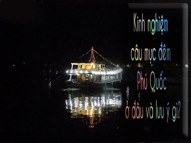 Kinh nghiệm câu mực đêm Phú Quốc ở đâu và lưu ý gì?