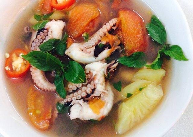 các món ăn chế biến từ bạch tuộc