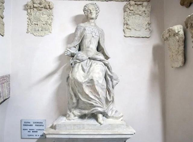 Bức tượng Elena Cornaro Piscopia