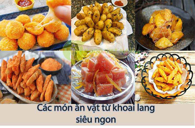 Các món ăn vặt khoai lang