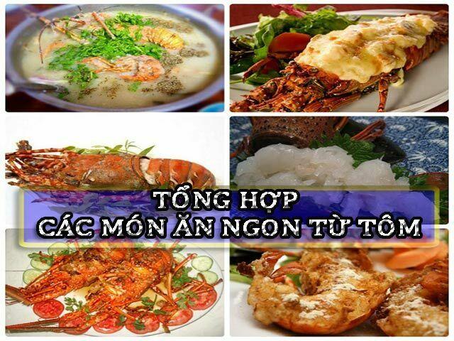 Tổng hợp các món ăn ngon từ tôm