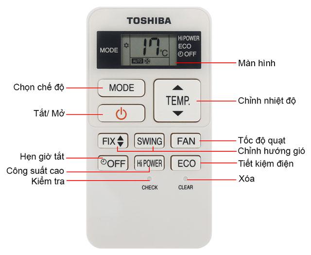 Điều khiển điều hòa Toshiba