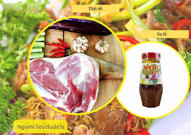 các món ăn làm từ thịt dê