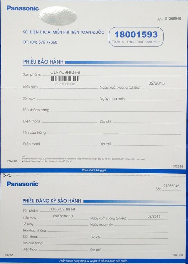 Nhận biết điều hòa Panasonic chính hãng như thế nào?
