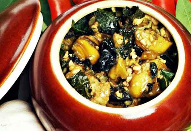 các món ăn chế biến từ ốc bươu vàng