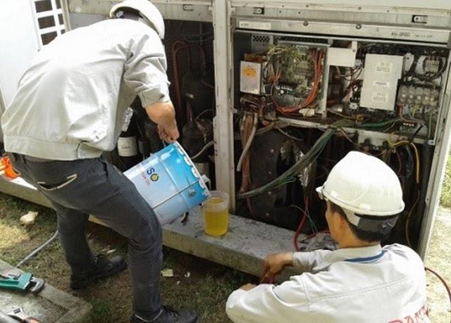 sử dụng sai dầu máy nén khí