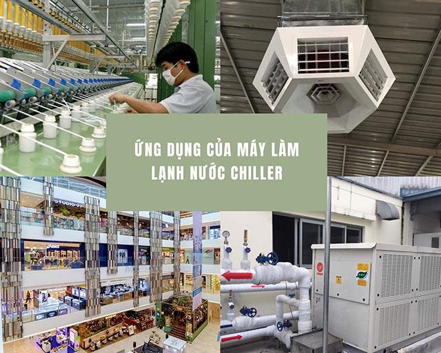 Ứng dụng của máy làm lạnh chiller