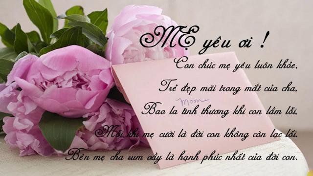 lời chúc ý nghĩa ngày của mẹ