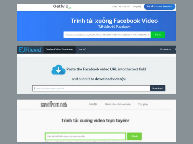 Cách tải video trên facebook về laptop