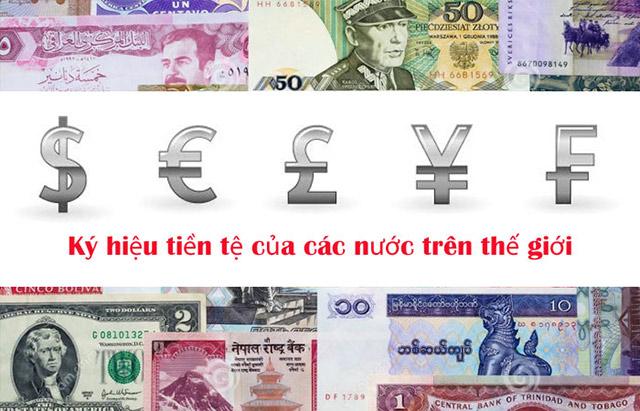 Tổng hợp hý hiệu tiền tệ của các nước