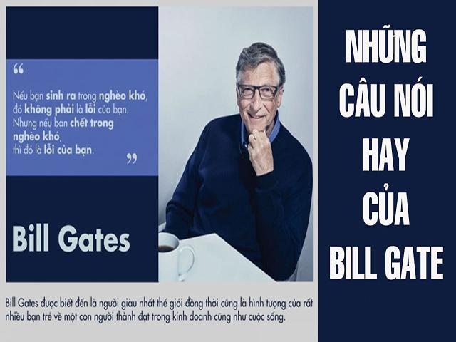Những câu nói nổi tiếng của Bill Gate