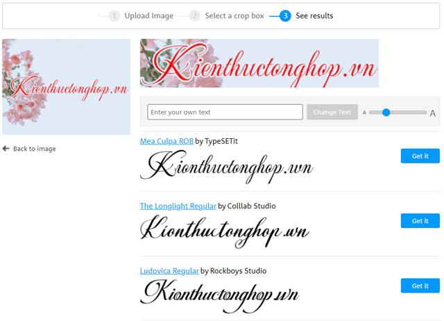 cách tìm font chữ bằng hình ảnh