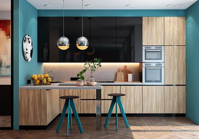 Trang trí phòng bếp nhỏ gọn, đơn giản