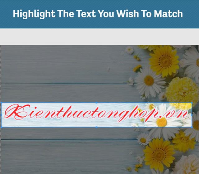 tìm font chữ bằng hình ảnh online