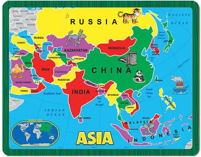 Châu Á gồm bao nhiêu nước
