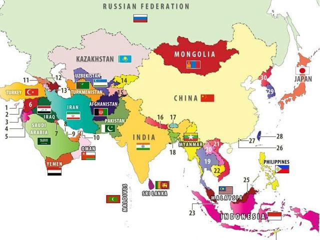 Châu Á quốc gia và khu vực